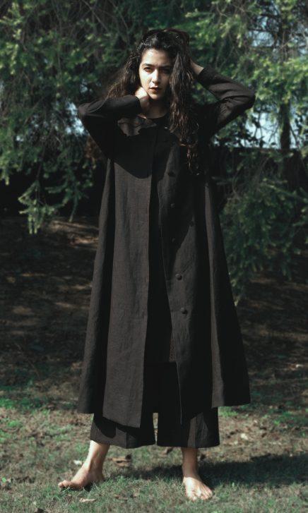 Black Long Linen Jacket