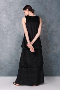 Black Full Length Sleeveless Dress