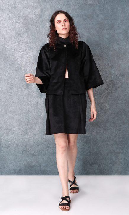 Black High Waisted Short Skirt