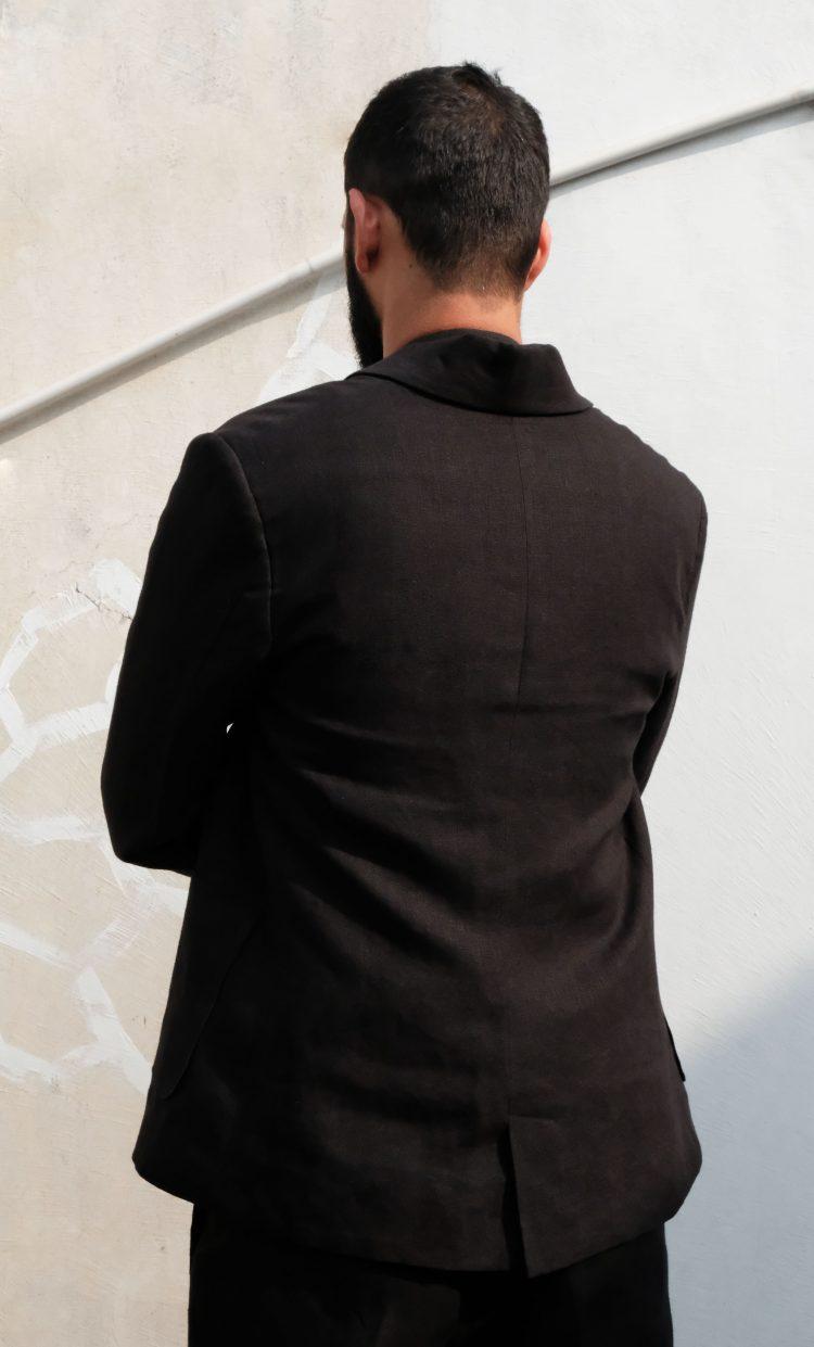 Lapel Collar Linen Jacket